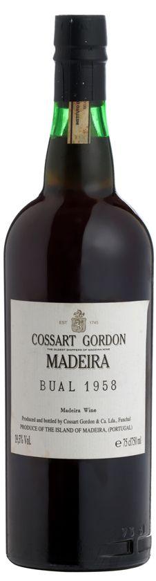 Cossart Gordon Bual Vintage Madeira 1958 SOLD OUT
