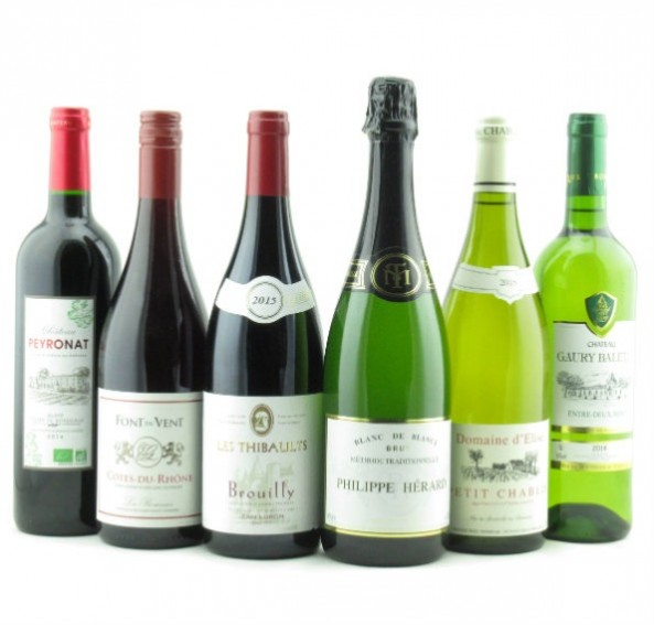 Affordable French Classics, Mixed Case of 6 bottles