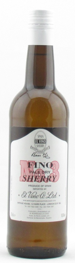 El Vino Fino No 3 Pale Dry Sherry