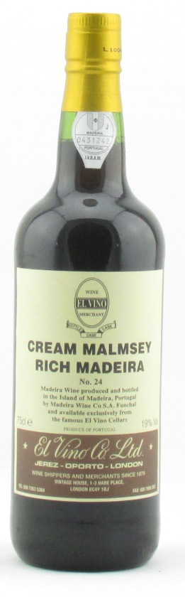 El Vino Cream Malmsey Rich Madeira No 24