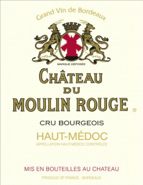 NEW RELEASE En Primeur Chateau du Moulin Rouge 2016, Case of 12x75cl IB