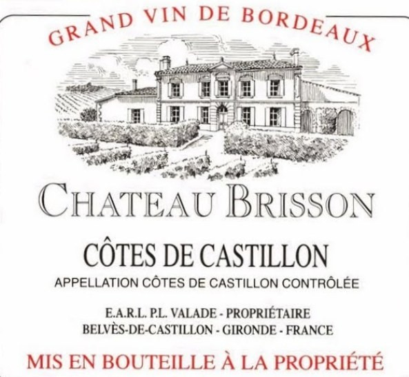 NEW RELEASE En Primeur Chateau Brisson 2016, Case of 12x75cl IB