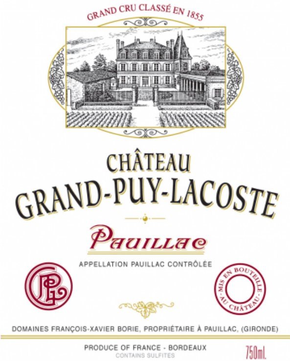 NEW RELEASE En Primeur Chateau Grand Puy Lacoste 2016, Case of 12x75cl IB