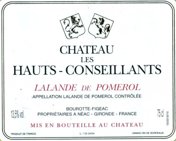 En Primeur Chateau Les Hauts Conseillants 2017, Case of 12x75cl IB