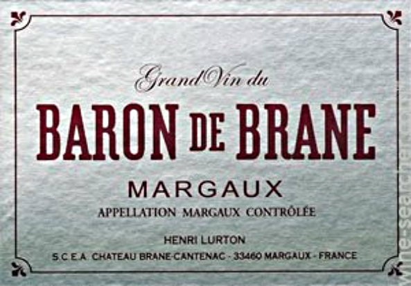 NEW RELEASE En Primeur Baron de Brane 2016, Case of 12x75cl IB