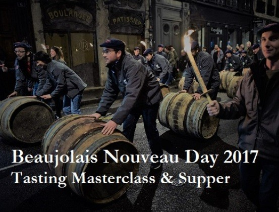 Beaujolais Cru Tasting Masterclass & Supper, Celebrating Beaujolais Nouveau Day, The City Flogger, 16th November 2017, 6.30pm SOLD OUT