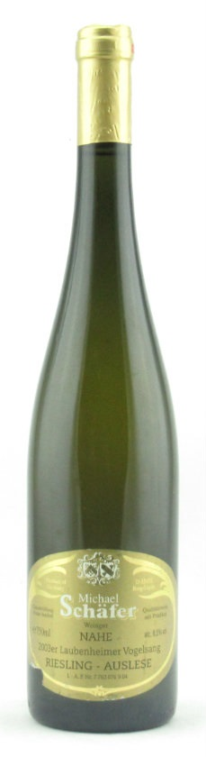 Riesling Auslese Laubenheimer Vogelsang 2003 Michel Shaffer SOLD OUT